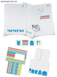 Dutch Stationery-set with Writing Paper, Envelopes and Stickers for Snailmail (printable) https://www.etsy.com/listing/114388369/dutch-stationery-set-with-writing-paper