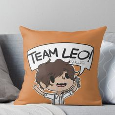 TEAM LEO Throw Pillow