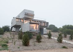 Concrete house by Luciano Kruk stands on seaside golf course