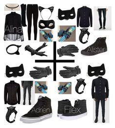 """Chat Noir siblings"" by brittany-and-kiwi-the-fire-fox on Polyvore featuring 7 For All Mankind, Aspinal of London, Aquazzura, Siste's, Burberry, AllSaints, Calvin Klein, Vivienne Westwood, Vans and Masquerade"