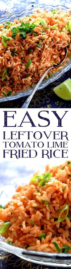 Easy Leftover Tomato Lime Fried Rice - Lord Byron's Kitchen