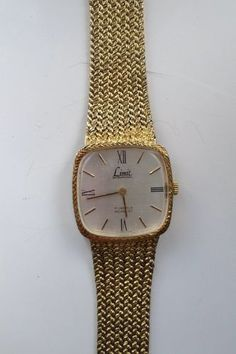 AUCTION ENDS TONIGHT FROM 8pm.... MENS VINTAGE LIMIT INTERNATIONAL 17 JEWELS INCABLOC SWISS GOLD TONE WATCH