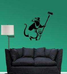 Banksy Rat  Vinyl wall decal by RedBirdGraphics on Etsy, $40.00