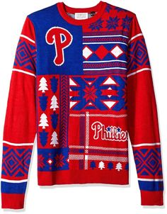 Mens MLB Patches Ugly Christmas Xmas Sweater Philadelphia Phillies Small S NWT  | eBay