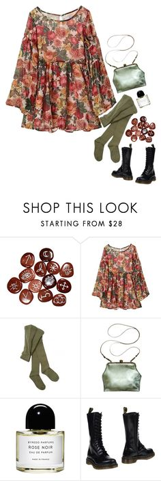 """gardenarian"" by vampirliebling ❤ liked on Polyvore featuring Joyrich, Hansel from Basel, Mimi Berry, Byredo and Dr. Martens"