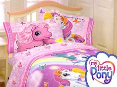 full size bedding for girls | My Little Pony Bed Sheet Set - 4pc Pony Bedding Sheets - Full Size