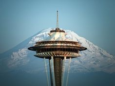 Space Needle & Mt Rainer!! It is so beautiful up in the needle. Seeing rainer is awesome on a good day