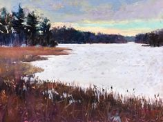 Winter+on+Stony+Creek,+painting+by+artist+Takeyce+Walter