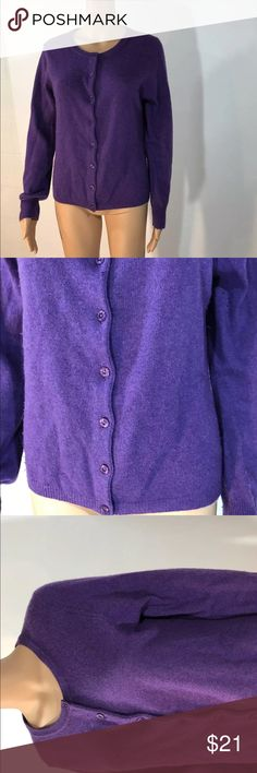 Simply cashmere sweater cardigan Simply cashmere, Purple cashmere cardigan 100%. Needs to be shaved in a few areas.   19in across chest  18 in across bottom simply cashmere Sweaters Cardigans