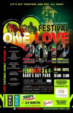 """Event manager Stephani Lacey previews the """"One Love Bob Marley Festival"""" coming up this weekend in Bermuda, February 3 & 4, 2012 from 10am to 3am …More info        information:onelovebermuda[at]gmail.com"""