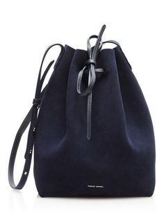mansur gavriel fall/winter 2016 / blue suede bucket bag