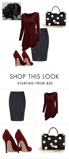 """""""Apostolic Fashions #1347"""" by apostolicfashions on Polyvore featuring Gianvito Rossi and Dolce&Gabbana"""