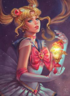 Decided to enhance my old Sailor Moon fan art since I'm feeling down lately and don't have the motivation to draw anything new..  #animegirl #fanart #anime #semirealism #sailor #digitaldrawing #drawing #sailormoon #art #portrait #fan #digital #painting #moon #usagi