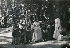 """""""Roma women and children in the woods at the Alhambra Bosque de la Alhambra - Granada, Andalucia."""" by Carl Curman. Courtesy of the Swedish National Heritage Board (www.raa.se). (Public Domain) http://europeana.eu/portal/record/91622/7DBA74E87C5CF4A5D002EF1382ECD235E9D7CDD9.html"""