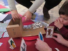 Racó del joc: Una exposició dins una capsa-conte. Ens traslladem a Torre Muntades per crear la nostra pròpia exposició dins d'una capsa-conte!!!