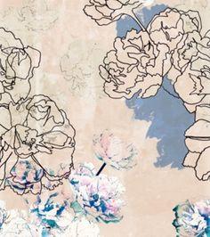 unfinished floral print