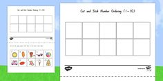 Summer Themed Cut and Stick Number Ordering Sheets Ordering Numbers, Fine Motor Skills, Seaside, How To Get, Children, Summer, Young Children, Boys, Summer Time
