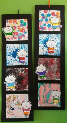 Painting our emotions Emotions Preschool, Emotions Activities, Preschool Art, Preschool Activities, Lessons For Kids, Art Lessons, Kindergarten Art, Feelings And Emotions, Art Plastique