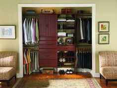 Men's Closet Ideas and Options    A man's closet requires a few simple additions to achieve optimal organization. Use these storage solutions to make his space clutter-free.