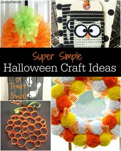 Super Simple Halloween Craft Ideas