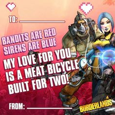 Borderlands Valentines day card