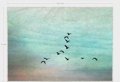 """Holzdruck - Holzdruck """"Mehr Meer """" 29,7  x 21 cm  - ein Designerstück von Heavensblue-Fotografie bei DaWanda"""