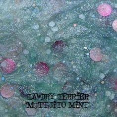 """@Tawdry Terrier """"Muttjito Mint"""" #macro - available at http://www.etsy.com/shop/TawdryTerrier #nailpolish #indienailpolish #tawdryterrier"""