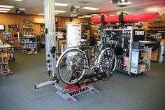 Inside Rack N Road San Jose, CA store showing off our Yakima bike rack system