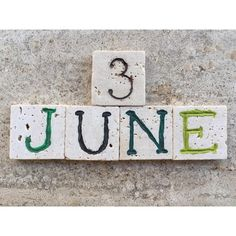 3rd June, Calendar Date On Carved Photograph