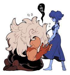 Jasper Steven Universe, Lapis Lazuli Steven Universe, Greg Universe, Steven Universe Comic, Universe Art, Character Art, Character Design, Lapis And Peridot, Slash
