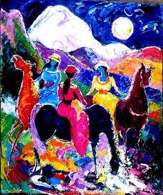 Artwork >> Eva Kudukhashvili >> ,, walking Kazbegi