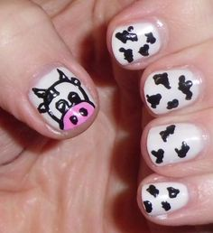 My lovely cow nails! http://www.makeupbee.com/look.php?look_id=82406