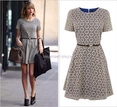 Taylor Swift floral skater dress blue on Mercari Taylor Swift Costume, Taylor Swift Outfits, Taylor Swift Style, Blue Dresses, Dresses For Work, Oasis Dress, Floral Skater Dress, Celebrity Outfits, Celebrity Clothing
