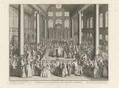 Portugese Synagogue in Amsterdam Inwijding van de Synagoge van de Portugese Joden te Amsterdam, 1675, Bernard Picart, 1721
