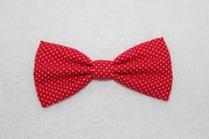 Check out this item in my Etsy shop https://www.etsy.com/listing/221925962/miniature-white-and-red-polka-dot-hair