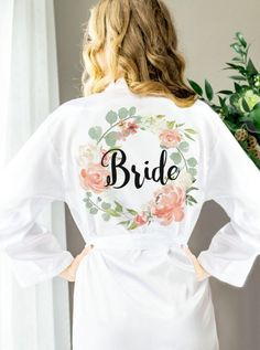 Bridesmaid Robes for Wedding Bridesmaids Floral Personalized