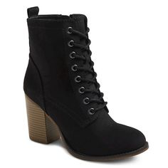 Women's Mossimo Supply Co Yolanda Heeled Lace Up Boots
