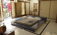 Tranquil modern bed design.