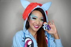 DIY Halloween Makeup : DIY My Little Ponies Rainbow Dash Makeup