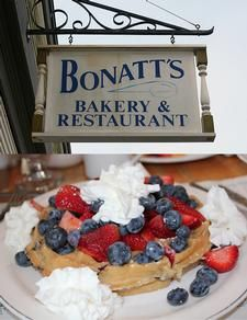 Bonatt's Bakery & Restaurant. Food is all made with natural, fresh ingredients that are sourced locally.