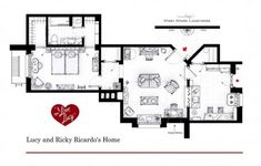 I Love Lucy- Lucy and Ricardo's Home Floor Plans