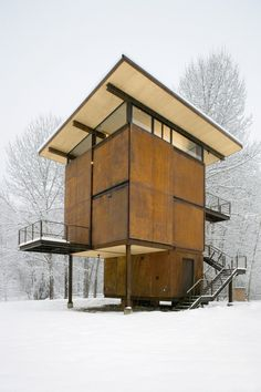 Delta Shelter by Tom Kundig, via Behance