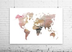 Copper world map art copper world map world map poster map of the wall art world map print world map poster abstract painting large art world gumiabroncs Choice Image