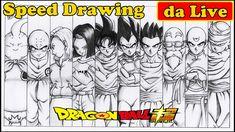 Drawing 10 Warriors Dragon Ball Super - Desenhando os 10 Guerreiros do U...