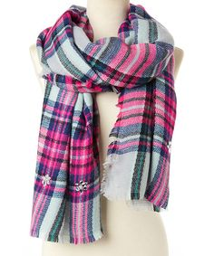 Look at this Purple Plaid Scarf on #zulily today!