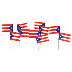 Puerto Rican Flag Toothpicks | Puerto Rico | Theme Party Decorations & Supplies