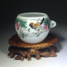 Vintage Chinese  Bird Feeder    Jingdezhen by BluePearEmporium