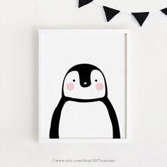 Digital prints/Nursery & Kids art/Printable wall art by ARTsopoomc Kids Room Art, Art For Kids, Baby Room Boy, Art Mignon, Penguin Art, Motifs Animal, Baby Art, Baby Kind, Art Decor