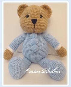 Blue #Ositos Dulces #Doll crochet #Amigurumisdolls #Crochet #Muñeca a crochet #Ganchillo #dollcrochet #Amigurumis #osita a crochet #Amigurumipattern #Doll #Dollspatterns #Amigurumibear #Teddy bear