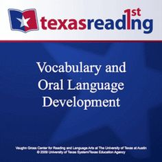 Vocabulary and Oral Language Development - Vaughn Gross Center...: Vocabulary and Oral Language Development -… #CurriculumampTeaching